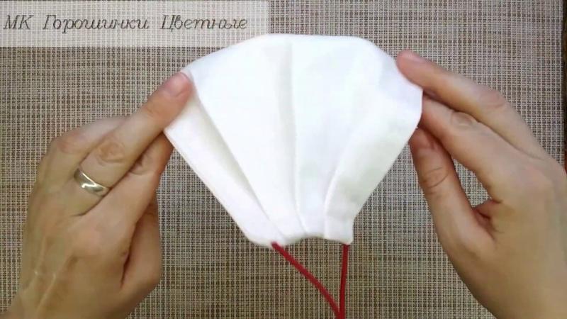 Как сшить многоразовую маску из ткани с зажимом на переносице Выкройка DIY Fabric Face MASK