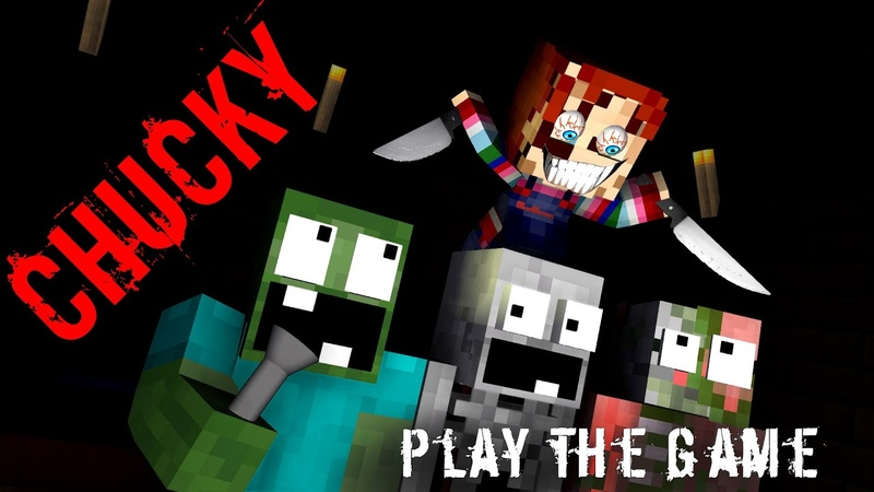 Monster School CHUCKY HORROR GAME CHALLENGE Minecraft Animation