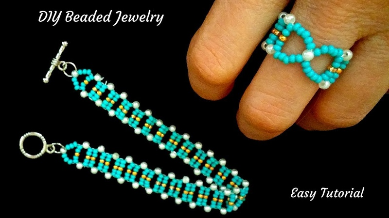 How to make a ring How to make a bracelet beading pattern for DIY jewelry