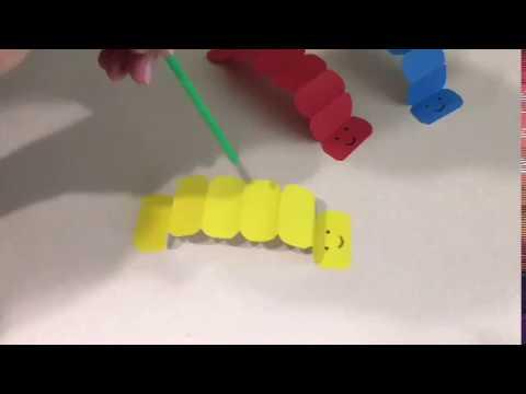Гусеницы из цветной бумаги Гимнастика для дыхания