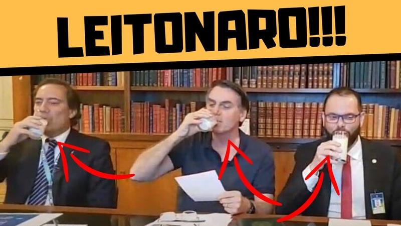 BOLSONARO E O COPO DE LEITE O QUE QUER DIZER
