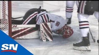 Niagara IceDogs Goalie Tucker Tynan Suffers Gruesome Injury