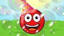 Новый КРАСНЫЙ ШАР, Красныш и мыльные пузыри, красный шарик спасает Соню, мультик игра 111