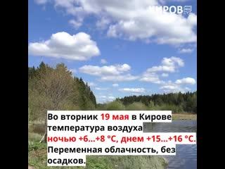 Прогноз погоды на 19, 20 и 21 мая