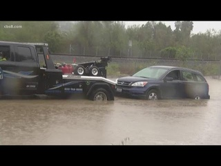Heavy rain brings flooded, dangerous roads to San Diego County