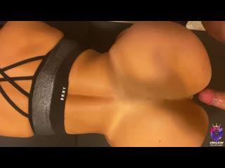 Муж любит трахать жену раком в анал и киску, POV doggy sex home porn bubble fit ass butt round anal tit boob cum (Hot&Horny)