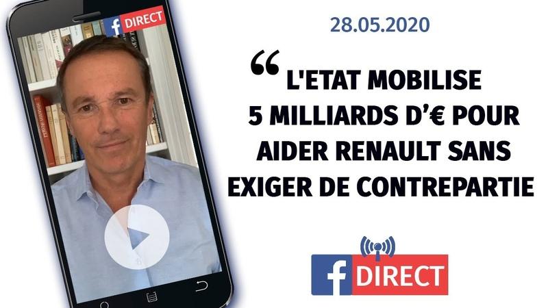 L'Etat mobilise 5 milliards d'€ pour aider Renault sans exiger de contrepartie