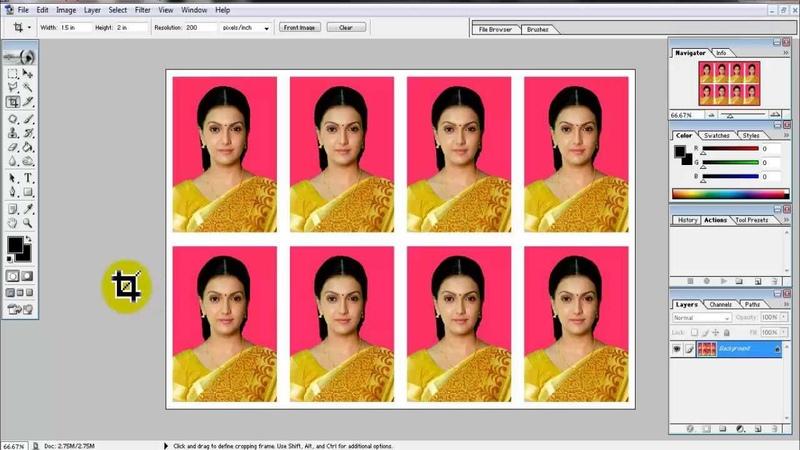 Create Passport size Photo in adobe Photoshop 7 0