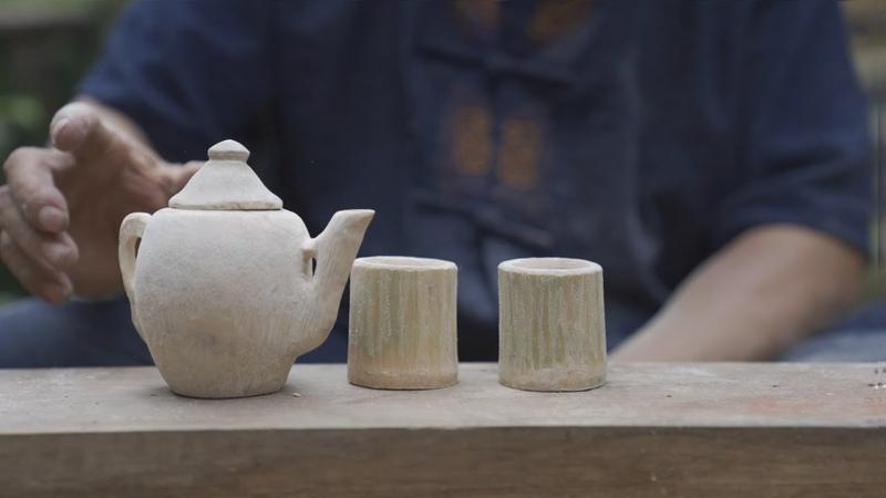 阿木爷爷的竹根茶壶,这件作品很棒,很精致漂亮