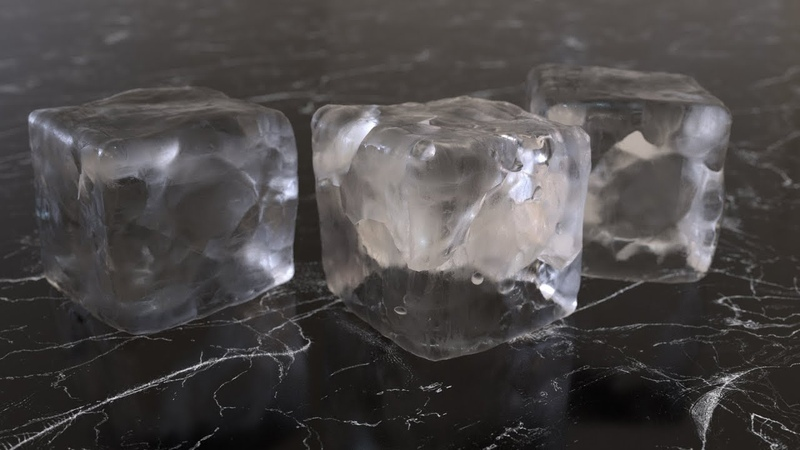 Realistic Ice Cubes in C4D Octane