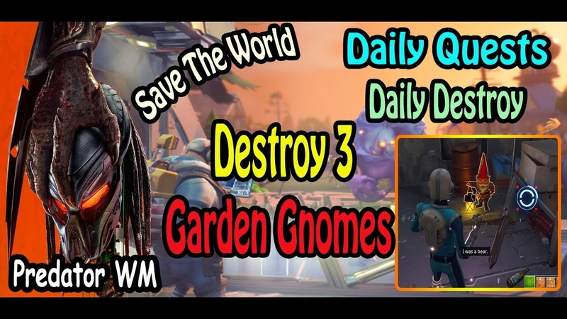 Destroy 3 Garden Gnomes in successful missions often found hidden in every zone