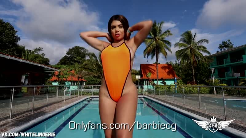 Barbie CG Micro Bikini Lingerie G String Thong Try On sexy hot big ass Latina Onlyfans Patreon латинка стринги большая жопа попа