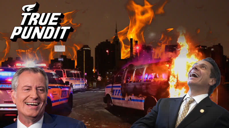 NYC Burns As De Blasio Cuomo Vamp for the Press with Special Guest Mike Moore of True Pundit