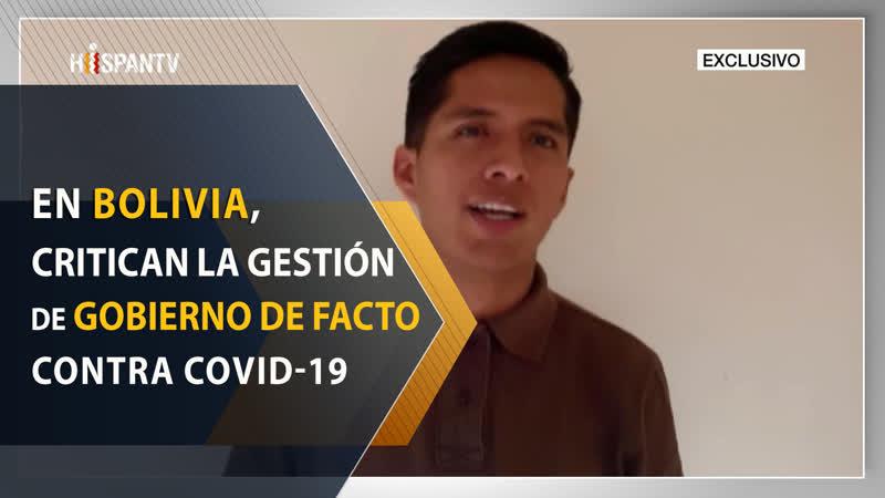 En Bolivia, critican la gestión del gobierno de facto contra Covid19