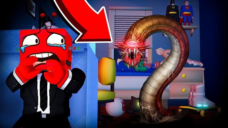 Ужасный Червь WORMY в Roblox против Кибер Кубика WORMY CHAPTER 2