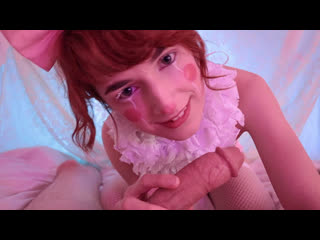 Flora Rodgers - Creampied Clown Suck And Fuck (Teen, Blowjob, Redhead, POV, Natural TIts, Creampie)