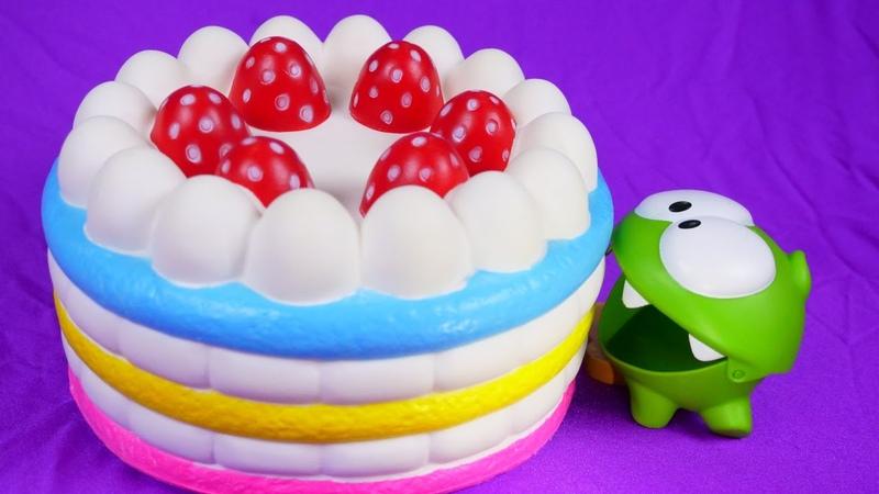 Веселые игры для детей про АмНяма— Детское видео сигрушками, как мыготовим торт для Амняши