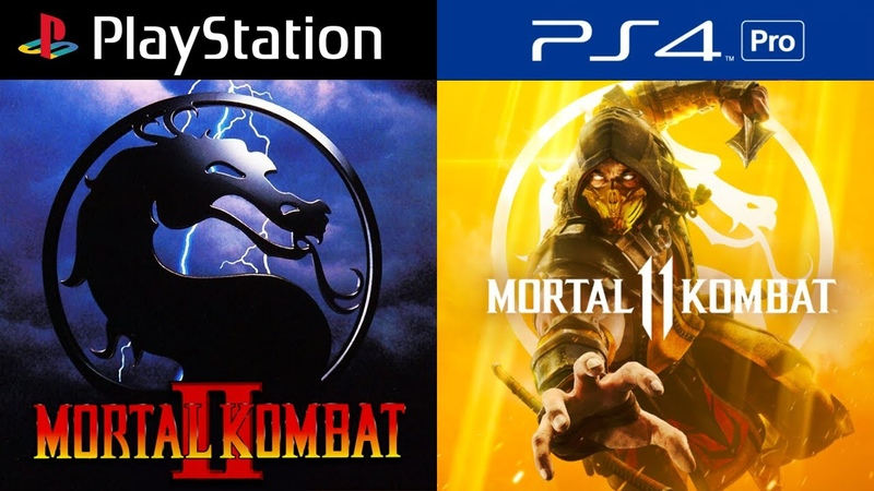Mortal Kombat PlayStation Evolution PS1 PS4