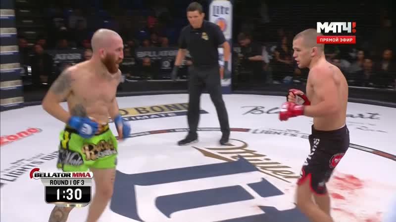 Кровавый бой Bellator 147 Adam Piccolotti vs Mario Soto