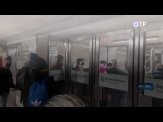 В Москве из-за пропускного режима образовались очереди на входах в метро