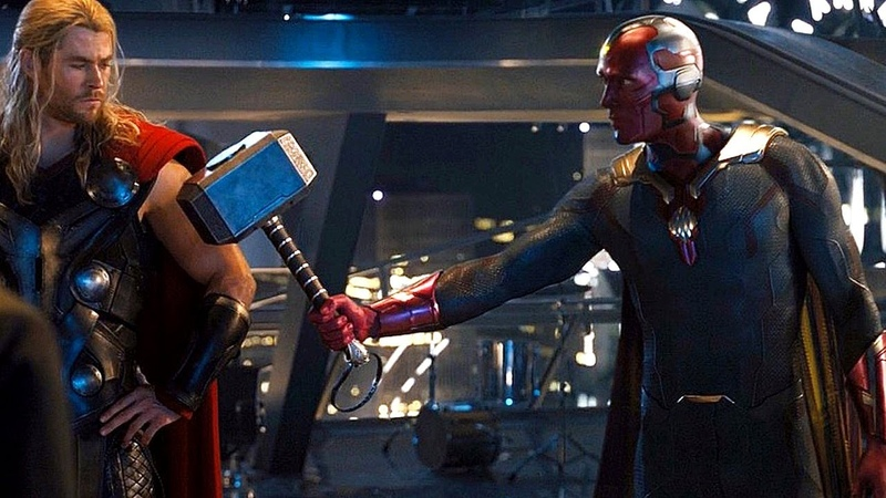 Vision Lifts Thor s Hammer Scene Avengers: Age of Ultron Movie Clip HD