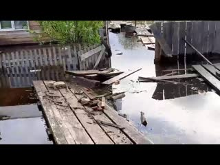 В Соликамском районе из-за сильных паводков затопило жилые дома в поселке Тюльки