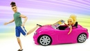 Челси в машине Барби! Смешные мультики про куклы для девочек - Игры в куклы