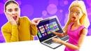 Кукла Барби пересидела за компьютером - Видео для девочек про игры с Барби