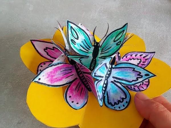 Tutorial Tarjeta pop up con mariposas Aprende a hacer tarjetas de felicitación