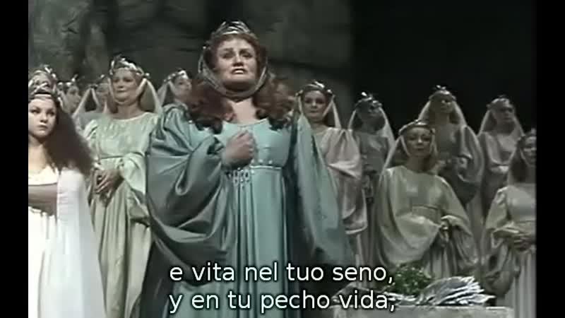 Joan Sutherland Casta diva de Norma de Bellini conductor Richard Bonynge Sydney 1978