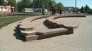 Хулиганы отломили облицовочную плитку фонтана и повредили скамейки в парке Вали Максимовой