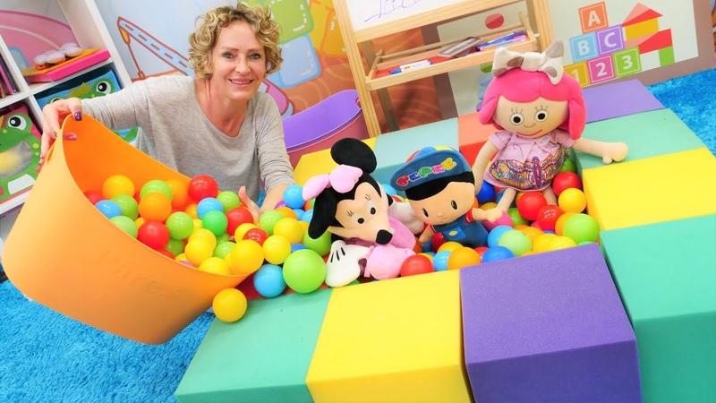 Spielspaß mit Nicole, Smarta, Pepee und Minnie Maus. Spielzeug Video für Kleinkinder