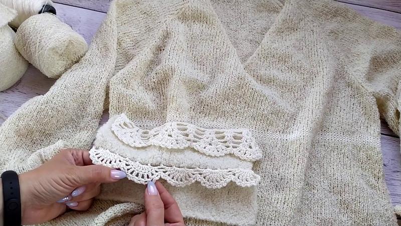 Пуловер из альпаки букле Часть 1 Обзор