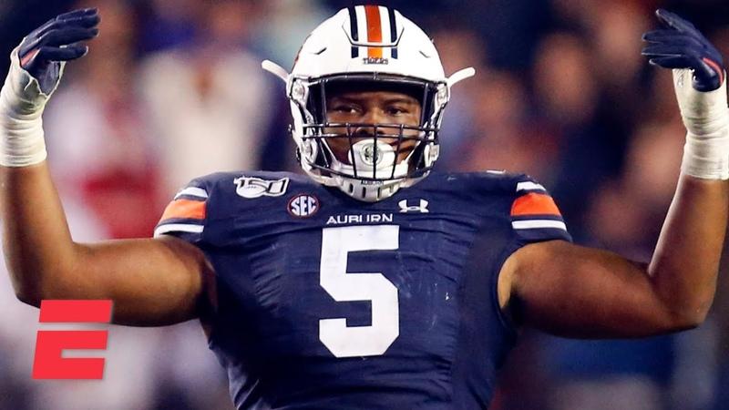 Derrick Brown's college football highlights Auburn DT 2020 NFL Draft