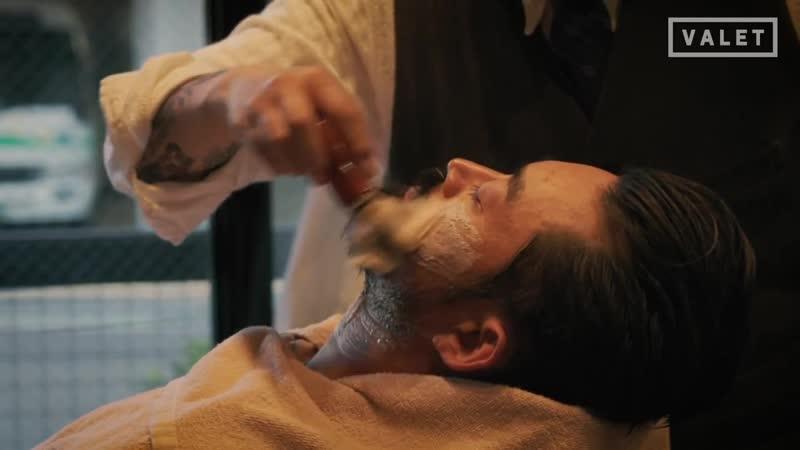 バーバースタイル 大人の嗜み。髪とヒゲの整え方。 WOLFMAN BARBER SHOP JINGUMAE スリックバック 髭のトリミング メンズグル