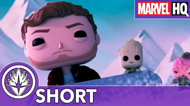 Marvel Funko Presents Cosmic Sleigh Ride Starring Star Lord Baby Groot Taserface