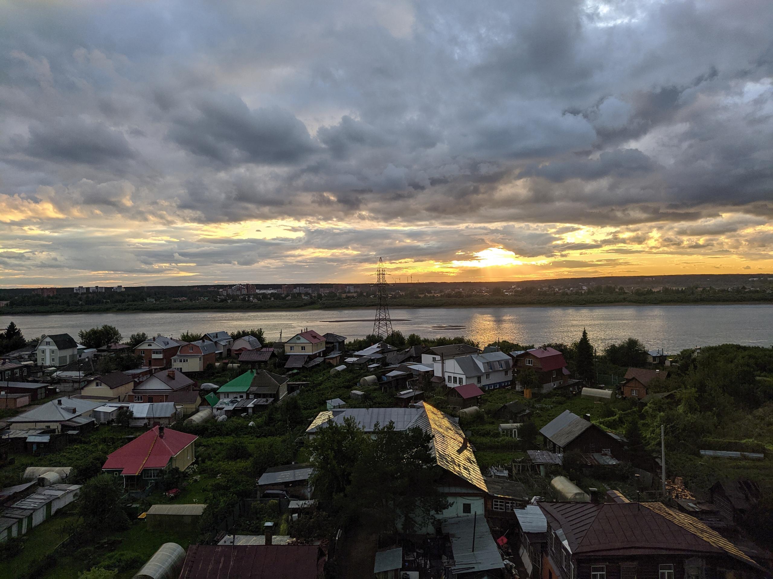 Закат над Томском - Фото