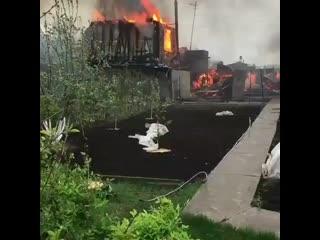 Пожар на дачах в Лесном Бийского района.mp4