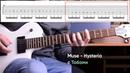 Как играть Muse - Hysteria на электрогитаре Табы. Разбор партии гитары видео урок, Cover