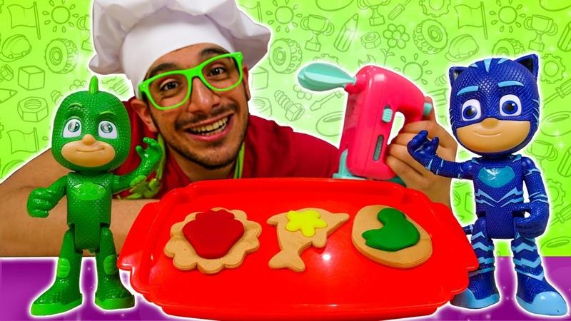 Recetas fáciles facturas argentinas. Cocina para niños. Vídeos de juguetes PJ Masks