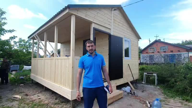 Готов💥 Дачный домик 5х5м с террасой от компании Лесное раздолье Омск 💸325 000💸