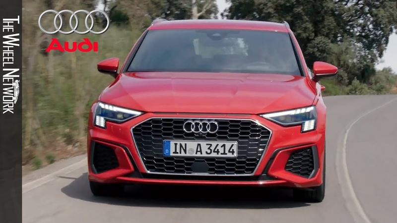 2021 Audi A3 Sportback 35 TDI S Line Tango Red Driving Interior Exterior