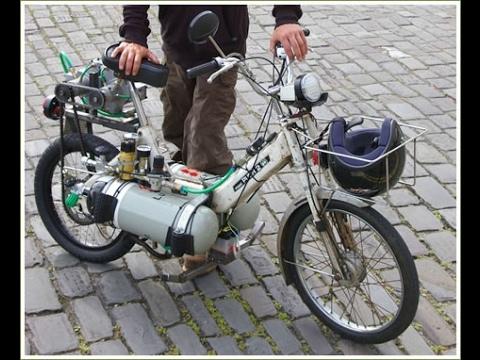 Мопед на сжатом воздухе Moped on compressed air