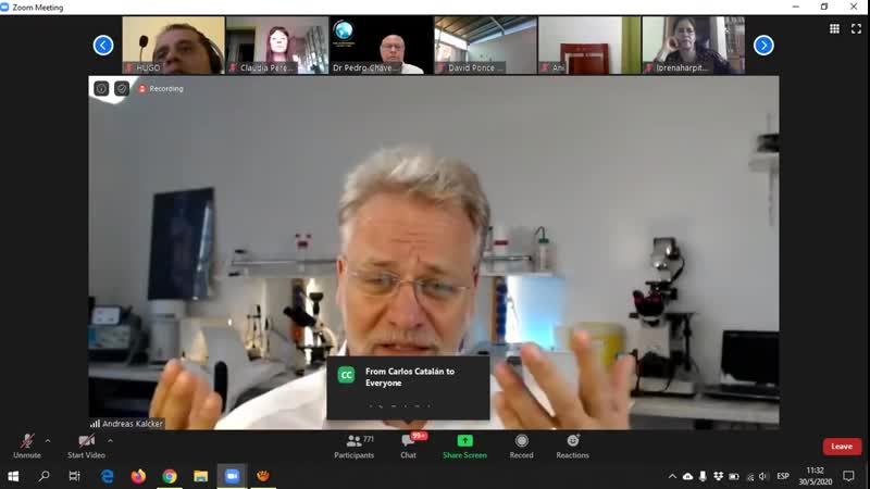Teleconferencia de Andreas Kalcker y la Coalición Mundial Salud y Vida con médicos latinoamericanos
