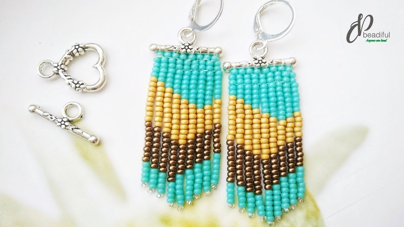 Toggle Clasp Fringe Earrings👍👍👍 Easy to make beaded earrings How to make dangle earrings