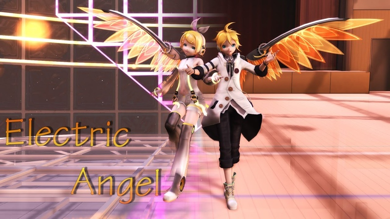 MMD Electric Angel Rin and Len KAGAMINE Dl motion camera