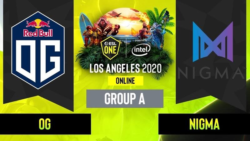 Dota2 Nigma vs OG Game 1 Group A EU CIS ESL One Los Angeles