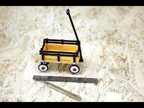 Heaven Ground 미니어처 손수레 만들기과정 part 2 Children's Wagon