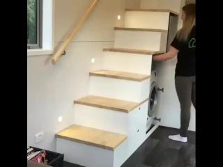 Что можно разместить под лестницей - классная идея -