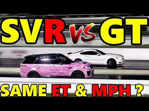 RANGE ROVER SVR 575 HP vs Mustang GT 5 0 1 4 Mile Guess Who WINS Identical ET MPH RoadTest